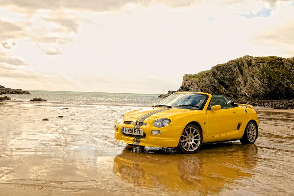 MGF Trophy on a beach in Anlesey