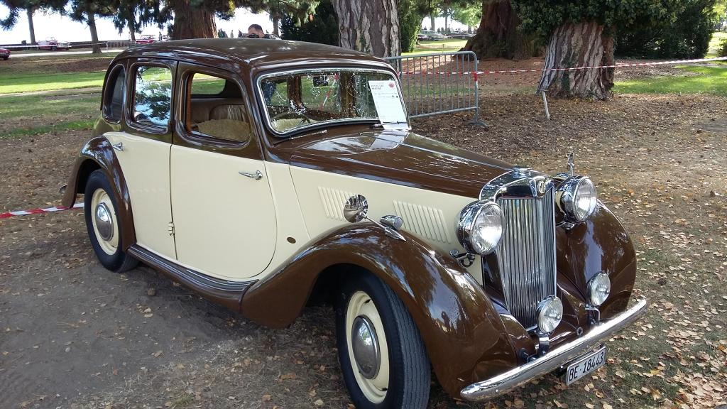 a 1947 MG YA saloon seen at Morges 2017